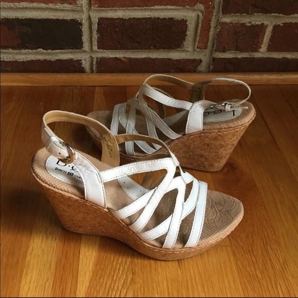1b450db77b Born Shoes | Boc White Wedges Sandals Sz 7 | Poshmark
